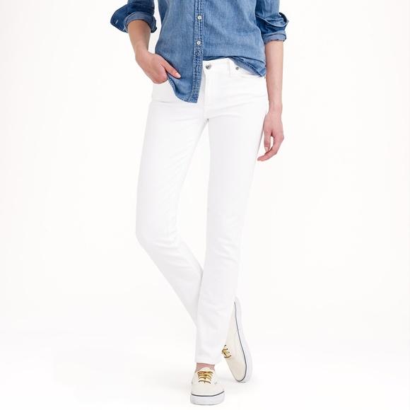 J. Crew Reid Skinny Jeans White 27p